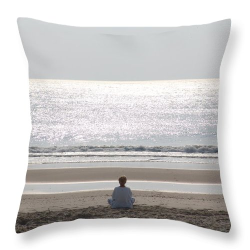 Meditation Throw Pillow featuring the photograph Meditation by Alex Vishnevsky
