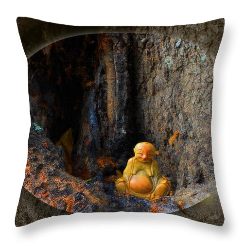 Cave Throw Pillow featuring the photograph Meditation by Ginny Schmidt