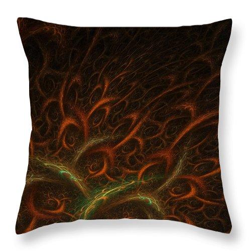 Abstract Digital Art Throw Pillow featuring the photograph Medusa by Lourry Legarde