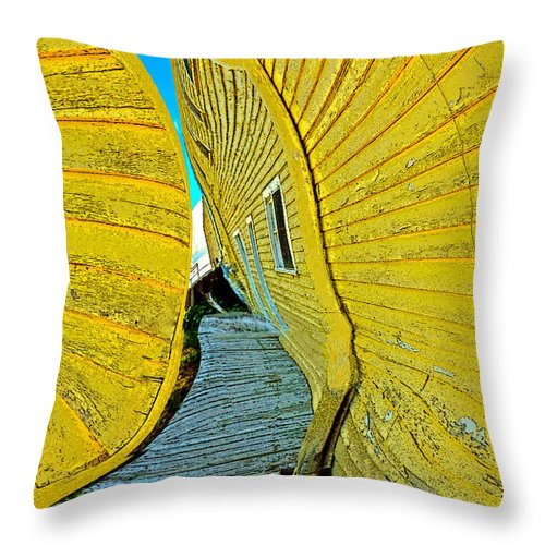 Yellow Throw Pillow featuring the photograph Mellow Yellow by Terry Anderson