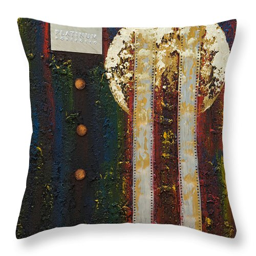 Art Throw Pillow featuring the mixed media Memories by Mauro Celotti