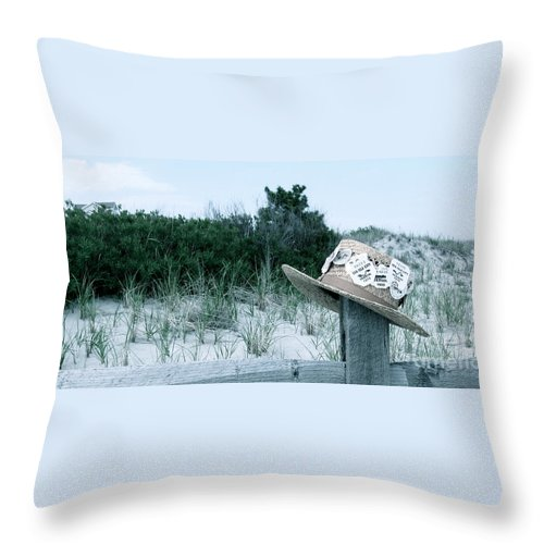 Sea Isle City New Jersey Throw Pillow featuring the photograph Memories Of Sea Isle by Nancy Patterson