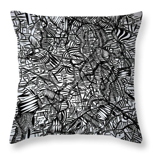 Jesus Throw Pillow featuring the drawing Mercury by Gloria Ssali