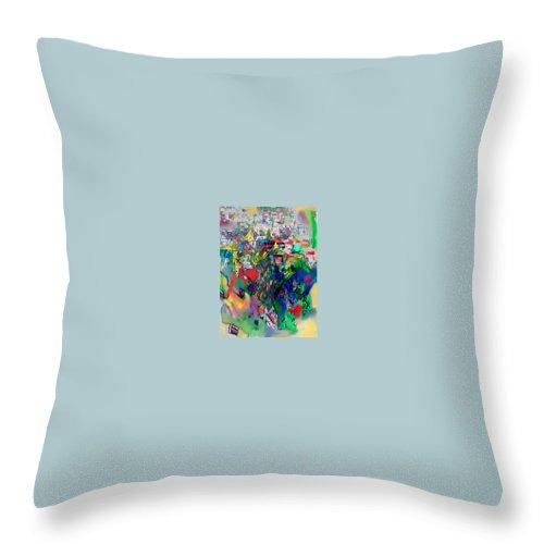 Torah Throw Pillow featuring the digital art Meriting The Multitudes by David Baruch Wolk