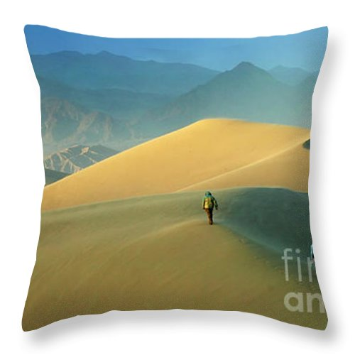 Death Valley Throw Pillow featuring the photograph Mesquite Dunes by Bob Christopher