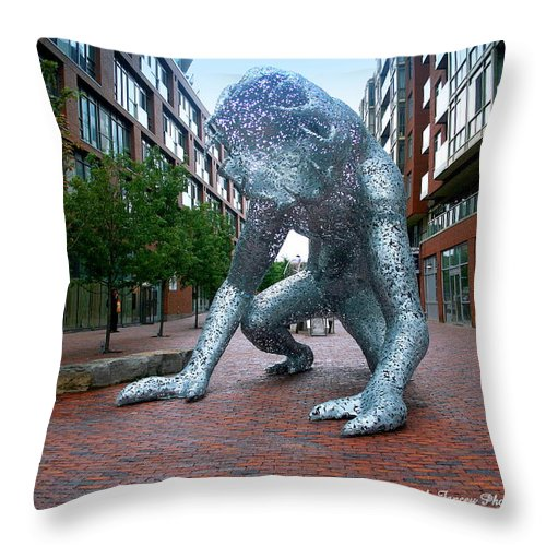 Photography Throw Pillow featuring the photograph Metal Monster by Jale Fancey