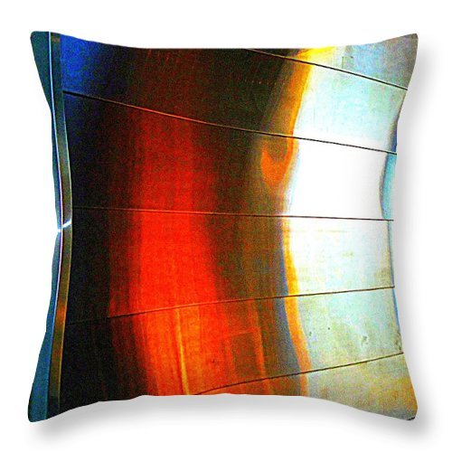 Metal Throw Pillow featuring the photograph Metal Reflect by Randall Weidner