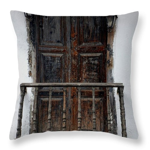 Mexico Throw Pillow featuring the photograph Mexican Balcony by David Resnikoff