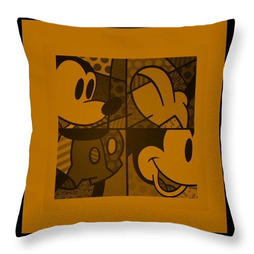 Mickey Mouse Throw Pillow featuring the photograph Mickey In Orange by Rob Hans