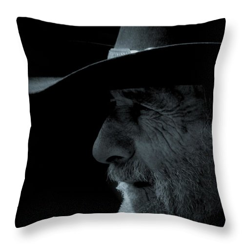 Cowboys Throw Pillow featuring the photograph Midnight Cowboy by Christine Till