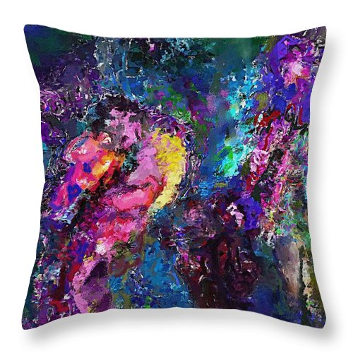 Fine Art Throw Pillow featuring the digital art Midnight Kiss by David Lane