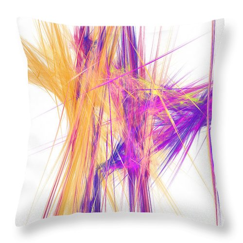 Abstract Throw Pillow featuring the digital art Mikado-o by RochVanh