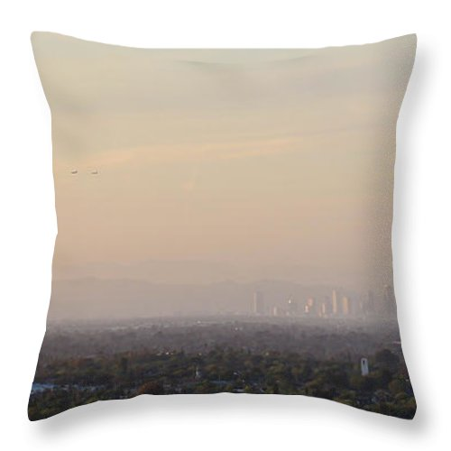 Los Angeles Throw Pillow featuring the photograph Miles To Los Angeles by Heidi Smith