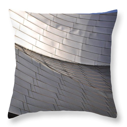 Millennium Park Throw Pillow featuring the photograph Millennium Park Amphitheater by Mary Machare