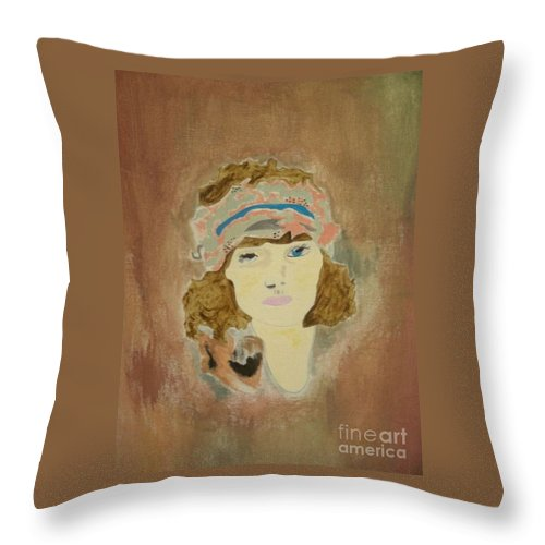 Throw Pillow featuring the painting Millie by Samantha L