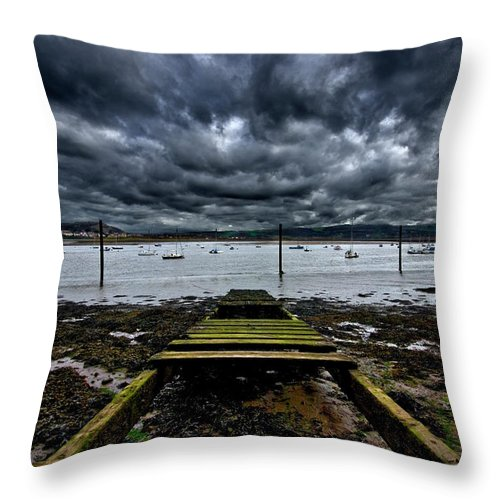 Conway Throw Pillow featuring the photograph Mind The Gap by Meirion Matthias