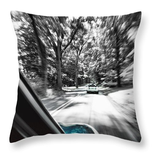 Mini Throw Pillow featuring the photograph Mini Warp by Scott Wyatt
