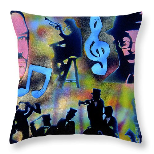Spike Lee Throw Pillow featuring the painting Mo Betta Blues by Tony B Conscious