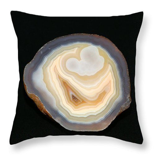 Agate Throw Pillow featuring the photograph Moctezuma Smile by Bill Morgenstern