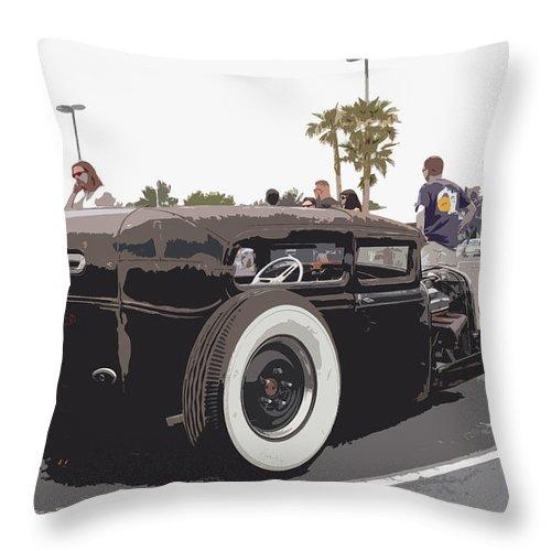 Model A Sedan Throw Pillow featuring the photograph Model A Sedan by Steve McKinzie