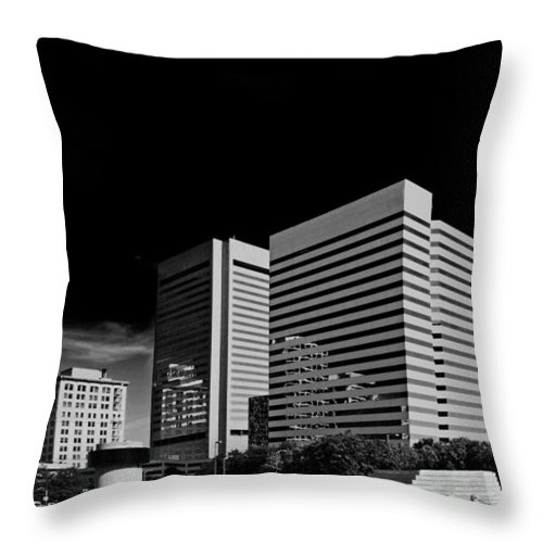 Main Street Throw Pillow featuring the photograph Money On Main by Tim Wilson