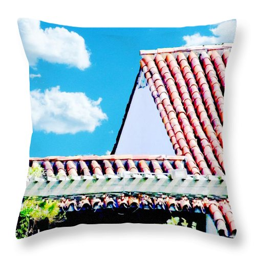 Throw Pillow featuring the digital art Monjunis Baton Rouge by Lizi Beard-Ward