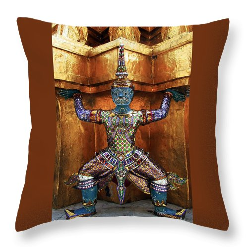 Monkey God Throw Pillow featuring the photograph Monkey God by Harry Spitz