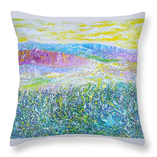 Landscape Throw Pillow featuring the painting Monterey by Dulcie Dee