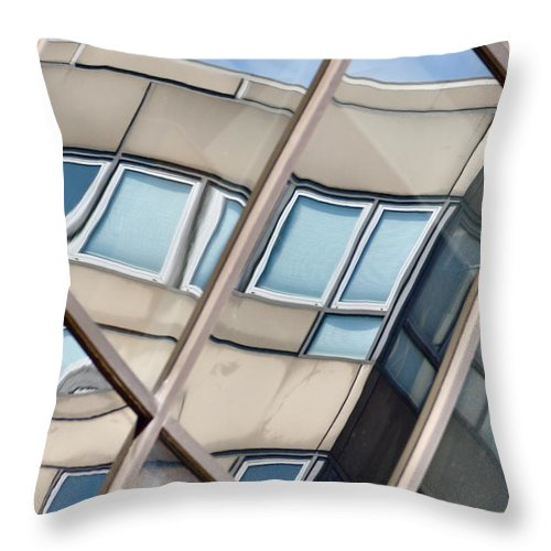 Montreal Throw Pillow featuring the photograph Montreal Reflections Viii by Valerie Rosen
