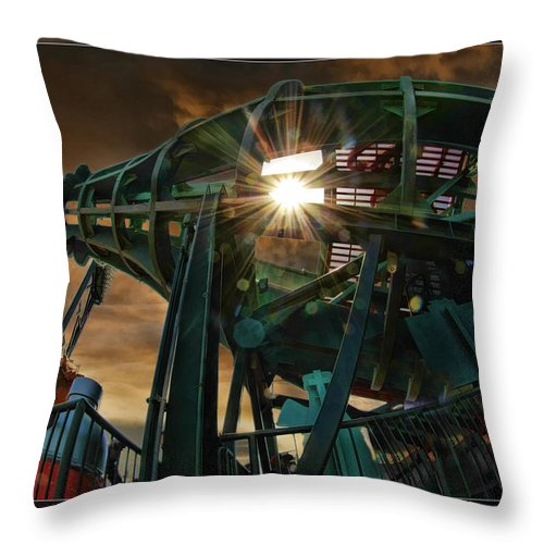 Giants Throw Pillow featuring the photograph Moon And Coke Bottle Giants by Blake Richards