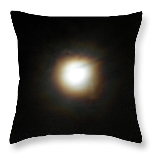 Moon Throw Pillow featuring the photograph Moon Glow by Diannah Lynch