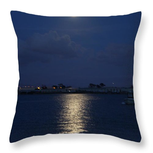 Moonlight Throw Pillow featuring the photograph Moonlight by Caroline Lomeli