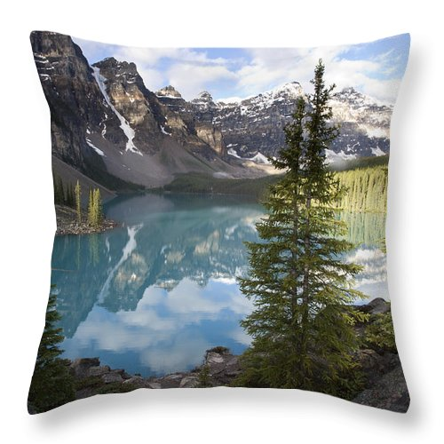 Mp Throw Pillow featuring the photograph Moraine Lake In The Valley Of The Ten by Matthias Breiter