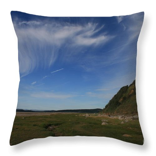Cirrus Throw Pillow featuring the photograph Morecambe Bay Cirrus by Andy Mercer