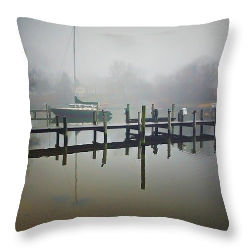 2d Throw Pillow featuring the photograph Morning Stillness by Brian Wallace