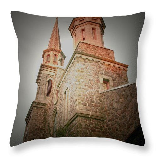 Morristown Throw Pillow featuring the photograph Morristown Church by Nina Fosdick