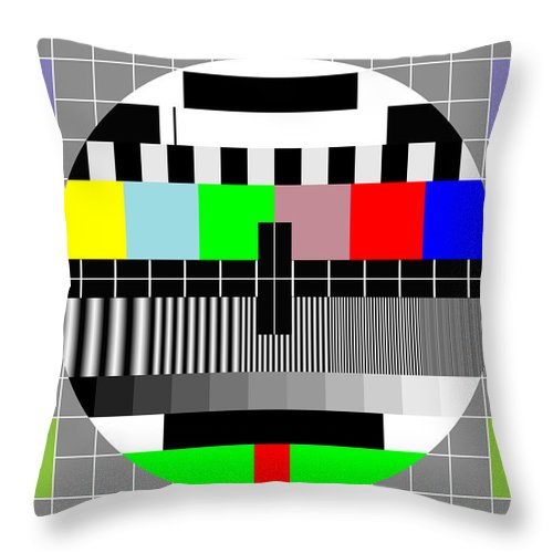 Multimedia Throw Pillow featuring the digital art Mosaic Of Colors by Saad Hasnain