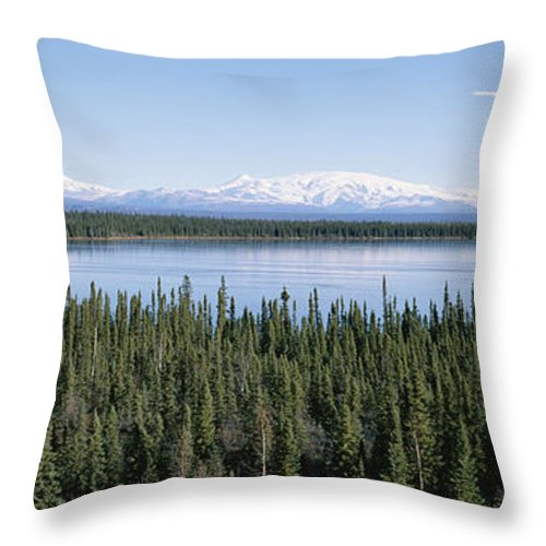 North America Throw Pillow featuring the photograph Mount Drum, Sanford And Wrangell by Rich Reid