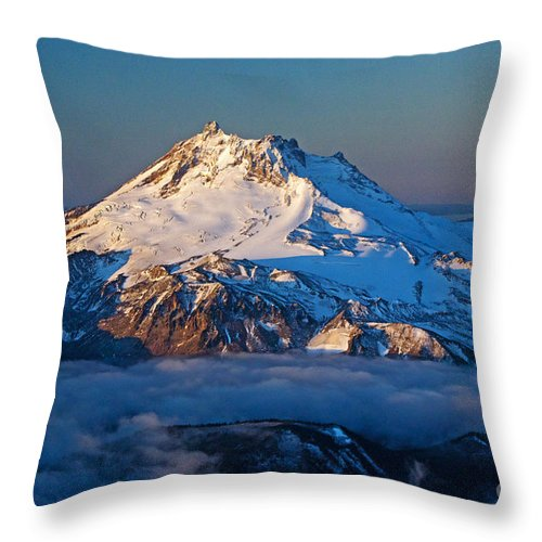 Mount Jefferson Throw Pillow featuring the photograph Mount Jefferson by Merrill Beck
