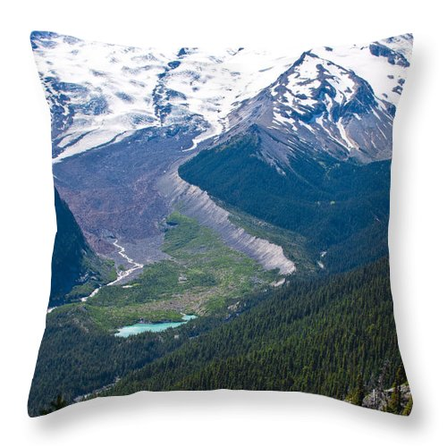 Mount Rainier Throw Pillow featuring the photograph Mount Rainier Xi by David Patterson
