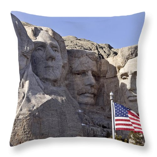 Mount Rushmore South Dakota Black Hills Throw Pillow For Sale By Mark Duffy