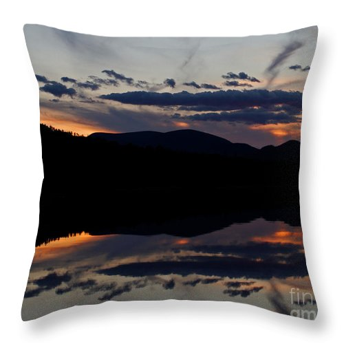Mountain Throw Pillow featuring the photograph Mountain Sunset Reflection by Lloyd Alexander