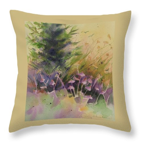 Flower Throw Pillow featuring the painting Mountain Wildflowers by Amy Householder