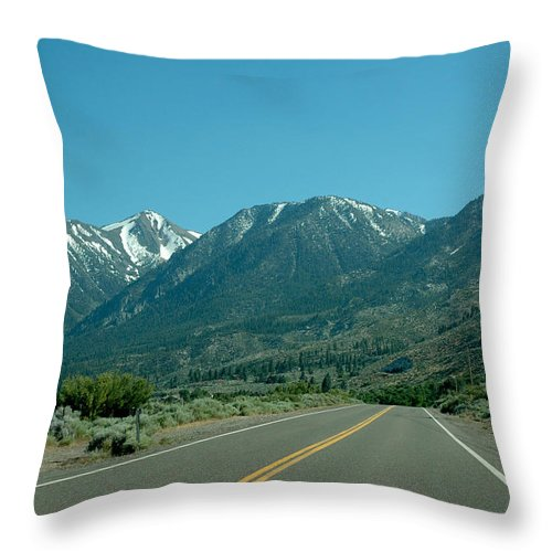 Snow Throw Pillow featuring the photograph Mountains Ahead by LeeAnn McLaneGoetz McLaneGoetzStudioLLCcom