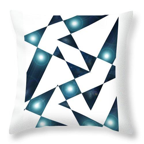 Moveonart! Global Gathering. -- Digital Abstract Art By Artist Jacob Kane -- Omnetra Throw Pillow featuring the digital art Moveonart Abstractchristmas by Jacob Kanduch