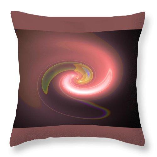 autumnlight Digital Abstract Art By Artist Jacob Kane Kanduch -- Omnetra Throw Pillow featuring the digital art Moveonart Autumnlight by Jacob Kanduch