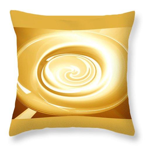 Moveonart! Global Gathering. Branch goingforgold Digital Abstract Art By Artist Jacob Kane Kanduch -- Omnetra Throw Pillow featuring the digital art Moveonart Goingforgold by Jacob Kanduch