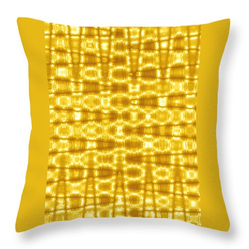 Moveonart! Global Gathering. Branch goldenblanket -- Digital Abstract Art By Artist Jacob Kane Kanduch -- Omnetra Throw Pillow featuring the digital art Moveonart Goldenblanket by Jacob Kanduch