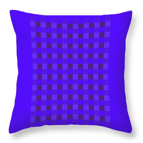 Moveonart! Global Gathering. -- Digital Abstract Art By Jacob Kane -- Omnetra Throw Pillow featuring the digital art Moveonart Justbluessquares by Jacob Kanduch