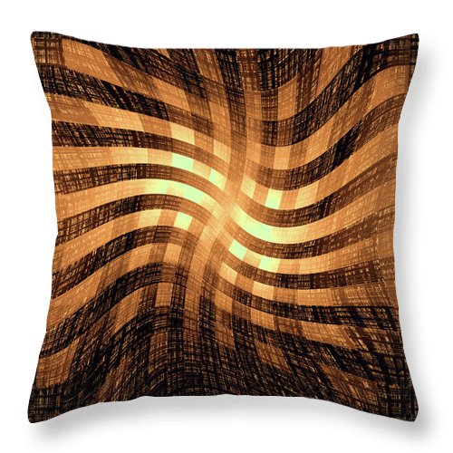 Moveonart! Global Gathering. -- Digital Abstract Art By Jacob Kane -- Omnetra Throw Pillow featuring the digital art Moveonart Lightcomingthrough by Jacob Kanduch